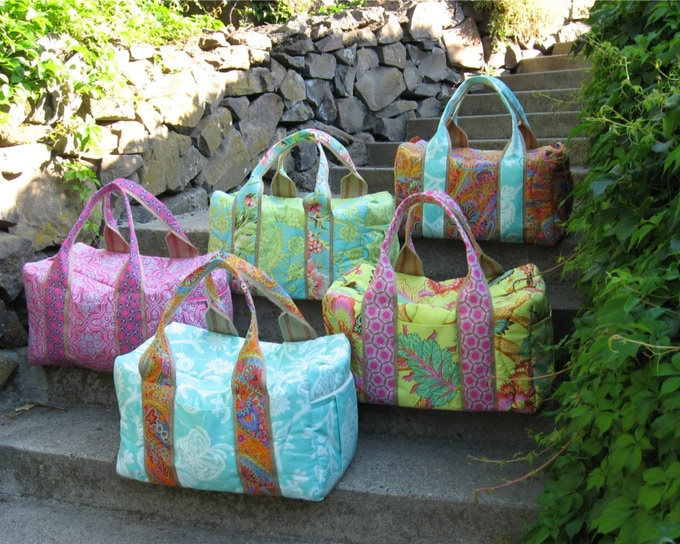 (These are Christy's duffles) One duffle $161 backer's reward
