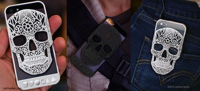 in white or black for the iPhone 4, 4s, & 5 (click to view in 3D)