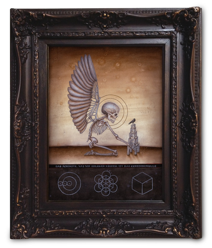 """Platinum Level 1: Soul of Science, Image Size 16""""x12"""", Oil on Wood, Sold Out"""