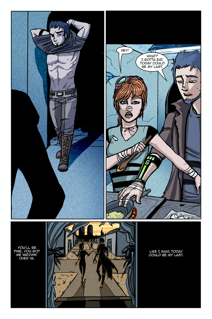 Sample of a finished page (Full color)