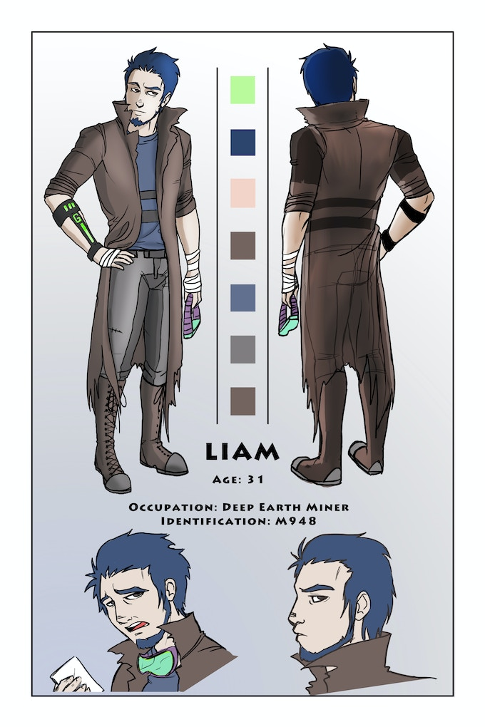 Liam character designs