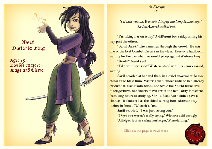 Fierce, stubborn, and usually hostile when approached, Wisteria Ling is the best Combat Caster in her year. But while magic comes easy to her, socializing never has.