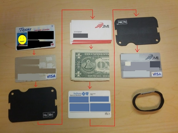 The HuMn Wallet: Mini broken down. Courtesy of Kyle N.