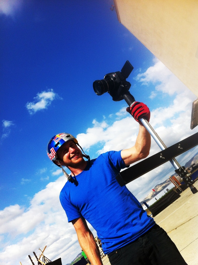 Danny MacAskill with The pStik.