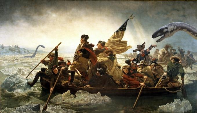 """Washington Crosses The Delaware While Dillon Fights Off Plesiosaurs"""