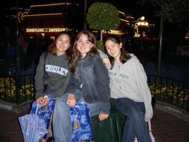Jennifer, KM Ricker, and Kara at Disneyland the year SFA was started