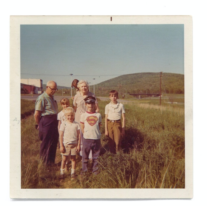 LAUNCH DAY 1973. I'M IN THE FRONT IN THE SUPERMAN T-SHIRT. MY GRANDPARENTS DROVE UP FROM NEW JERSEY FOR THE EVENT.