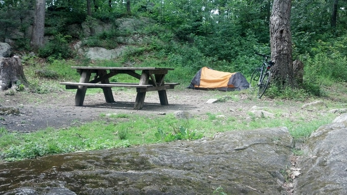Campsite at Clarence Fahnestock Park