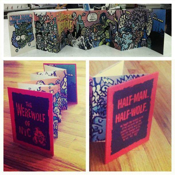 Limited Edition Accordion Promo Book/Silkscreen/Hand Made Book