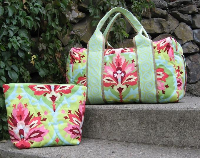 Duffle and large cosmetic bag $191 backer reward. Costmetic Bag, exclusive to Kickstarter,  $35 backer reward.