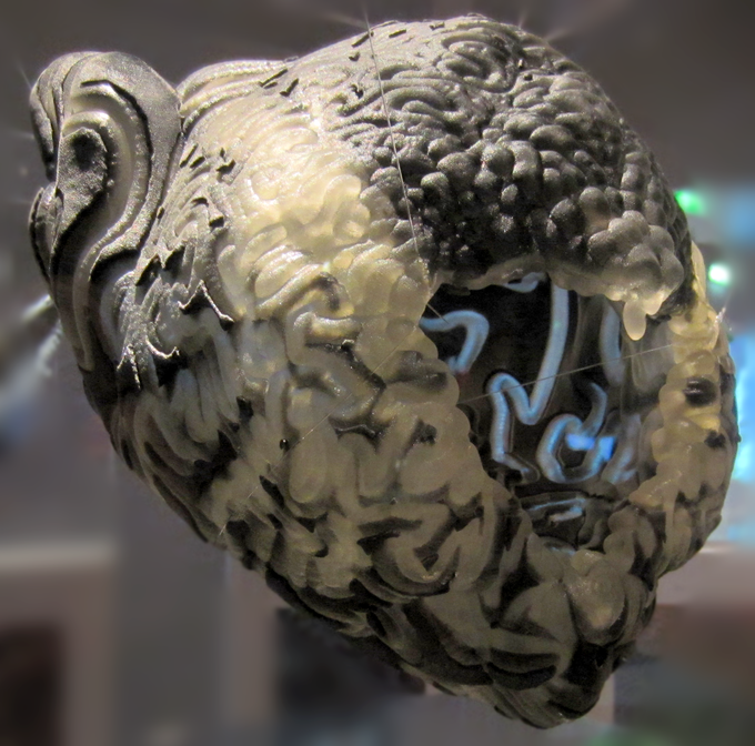 Minotaur Head with Lamella: co-creation between Neri Oxman, Uformia and others
