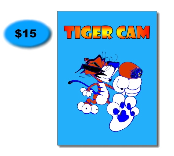 """Limited Edition Tiger Cam Poster featuring """"TC"""" Tiger"""