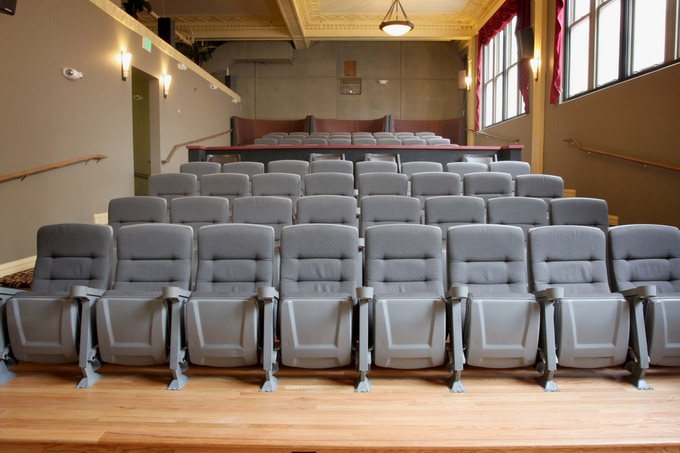 The Kress has a mix of seating from traditional theater seats to spacious booths at the rear.