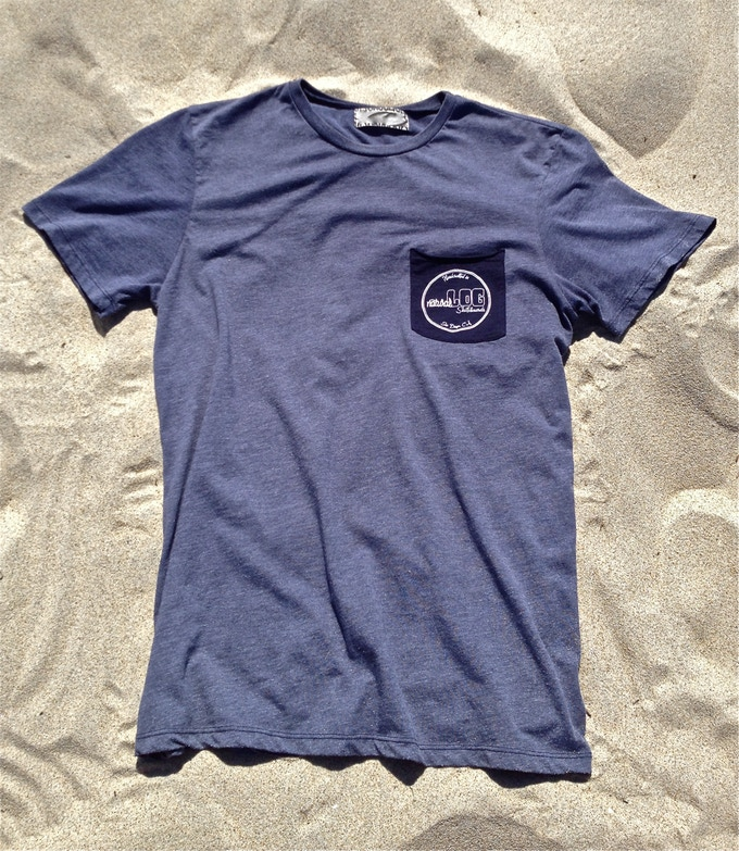 50% organic cotton / 50% recycled polyester shirt made in Los Angeles, CA