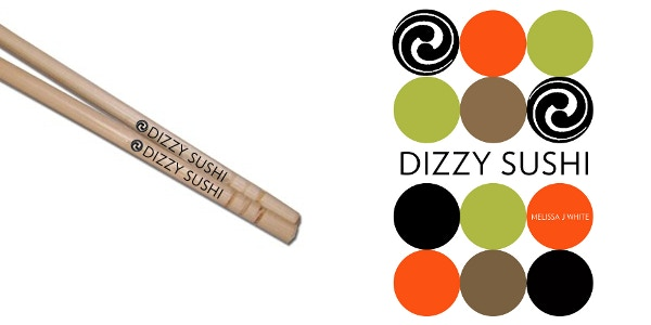 """""""Dizzy Sushi"""" Chopsticks and Poster."""