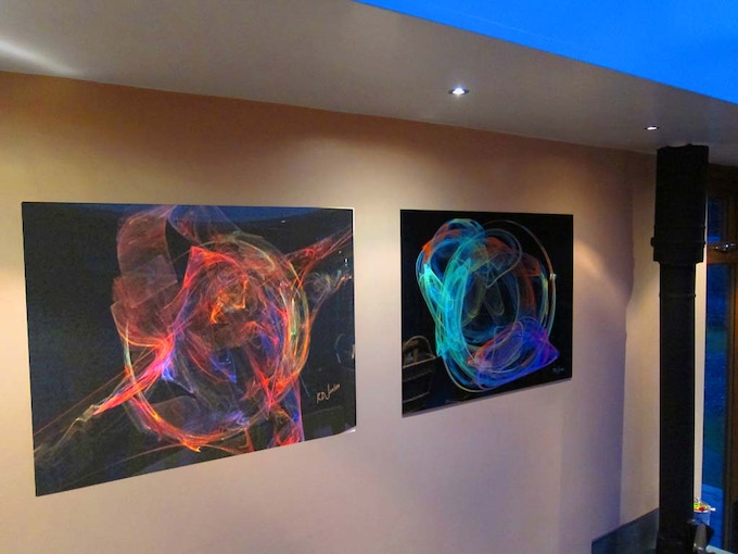 Backer photo of printed attractors in home; they affect kids!