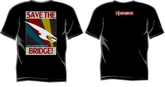 SAVE THE BRIDGE T Shirt comes in BLACK ONLY