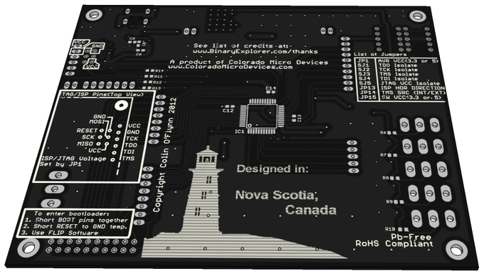 Don't you want a pretty PCB like this? Here is what the backside of the version you'll be getting as a KickStarter supporter looks like! See update #1 for what the front looks like.
