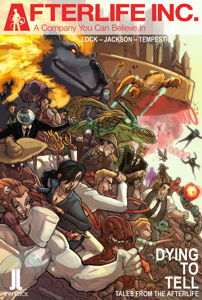 Cover of Afterlife Inc. Volume 1: Dying To Tell. Art by Ash Jackson