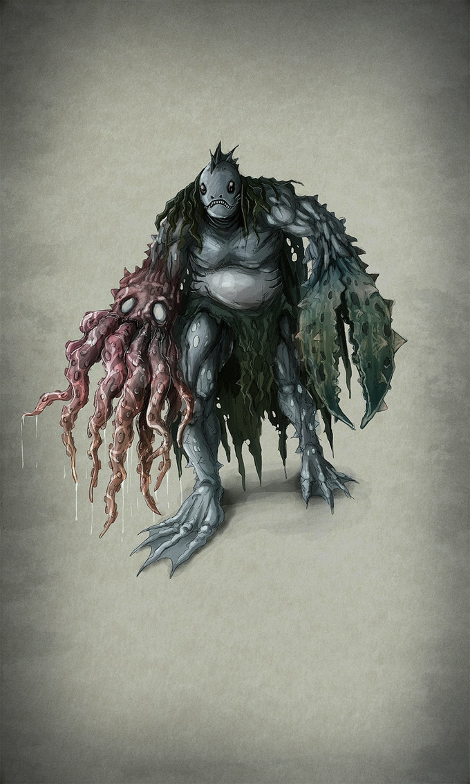 Fears of the Sea bring about horrific sea creature nightmare spirits. (Dholl)