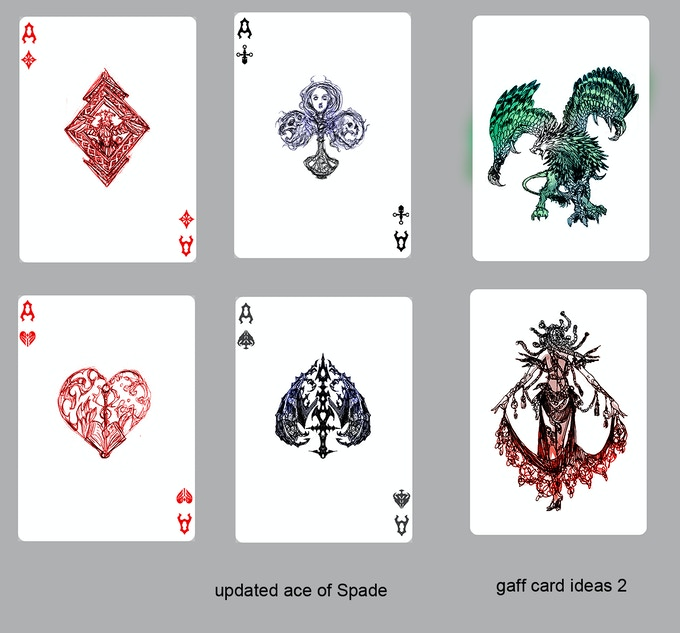 Second iteration of custom Aces and possible Gaff Card #1