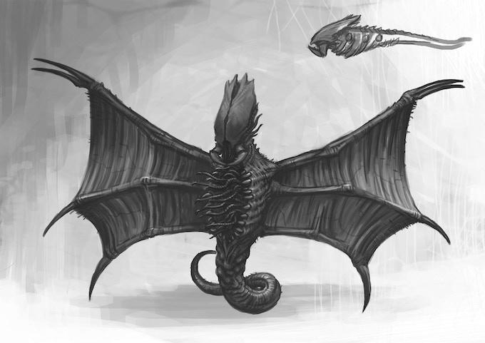 Sky Hunter sketch by Des Hanley