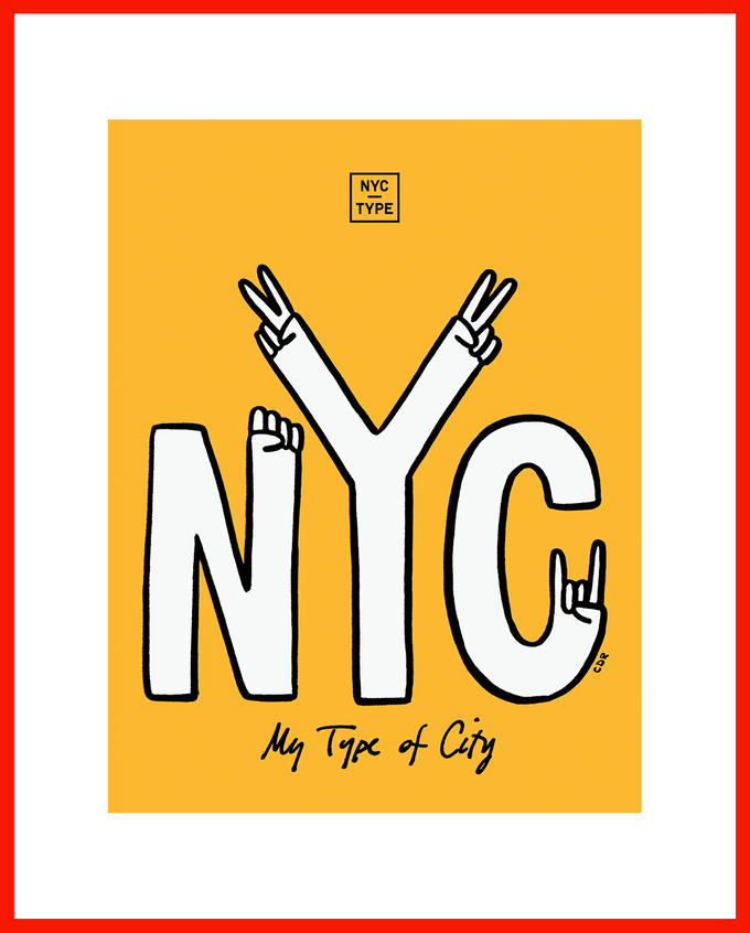 """Limited edition """"My Type of City"""" poster by Christopher David Ryan. Available at the $75 level."""