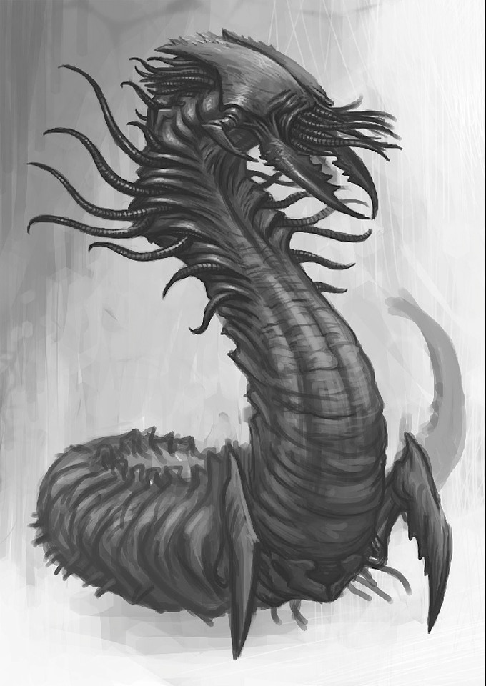 Alien Wyrm, a large beast.