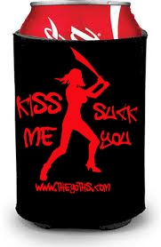"Official Comic Con Launch ""Kiss me, Suck you"" Koozie"