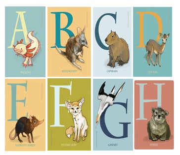 (here's a sample of just part of the alphabet magnet series)