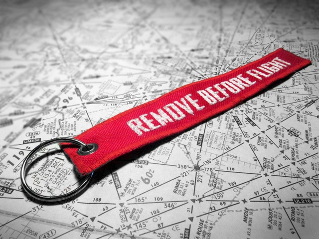 """Division Furtive """"Remove Before Flight"""" Keychain"""