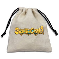 $7 Storm the Castle! Dice Bag - Hold your weapons of doom in one handy bag. Made from fine-weaved goblin hair. Can also double as a draw bag.