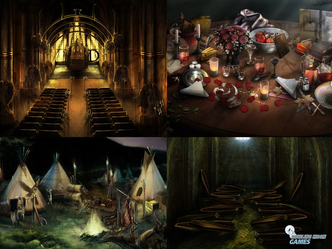 Art samples from Hidden Objects games we have developed