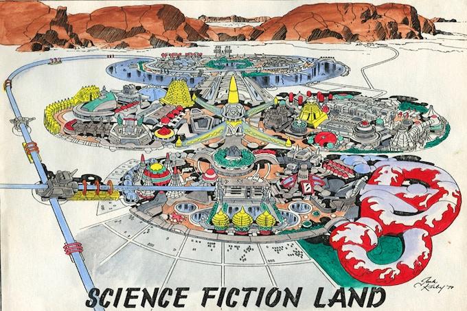Jack Kirby's original Science Fiction Land design, based on blueprints by Barry Ira Geller