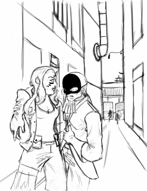 Concept Art:  Wounded Vigilantes--Courtesy of Jonathan Barnes