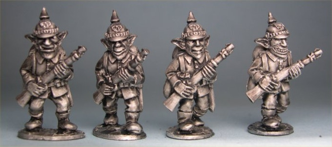 German Goblin Riflemen in Pickelhaube