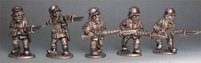 German Goblin Riflemen in Stalhelm