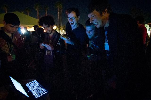 Hokra at IndieCade 2011 (Photo by Elliot Trinidad / IndieCade)