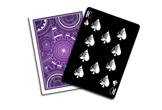 These are not part of the standard 54-card deck, and they are 2 gaff cards specifically made for performing magic tricks.