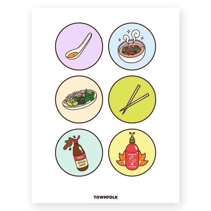 "18"" x 24"" Illustrated Phở Poster"