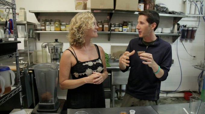 Footage from the show at LifeFood Organic in Hollywood