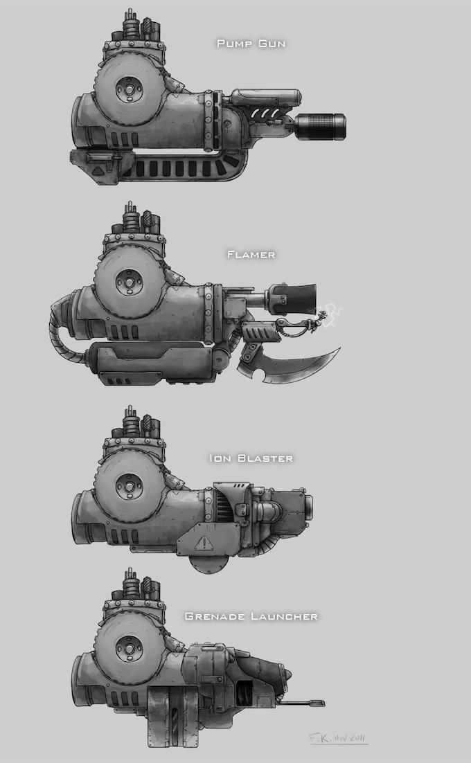 Alien Hunters Firepower for dreadnought.