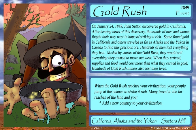 Historical Conquest Card - Gold Rush