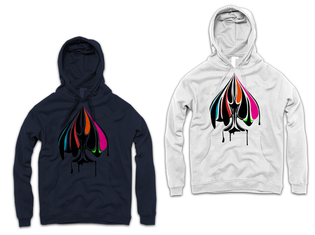 Urban Punk True Colors Hoodie Design (Left: Navy, RIght: White)