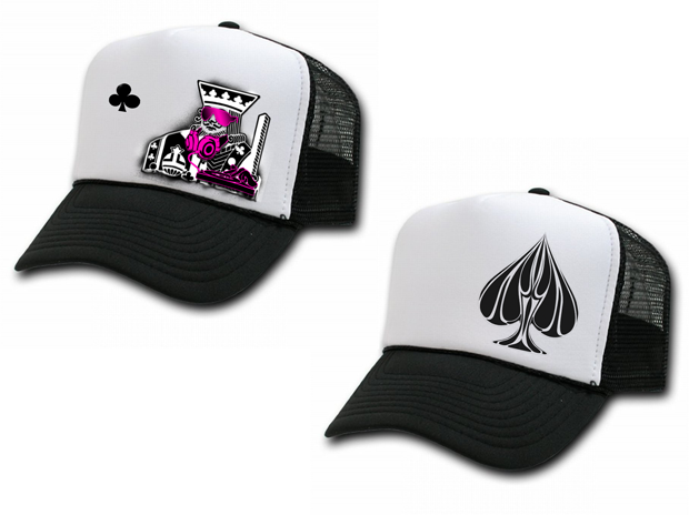 Urban Punk King of Clubs & Ace Straight Up Trucker Hats