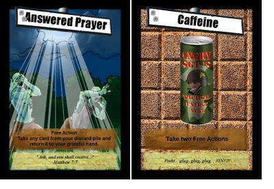 These cards could save your life.  Or make you hyper.  Either way, it helps.