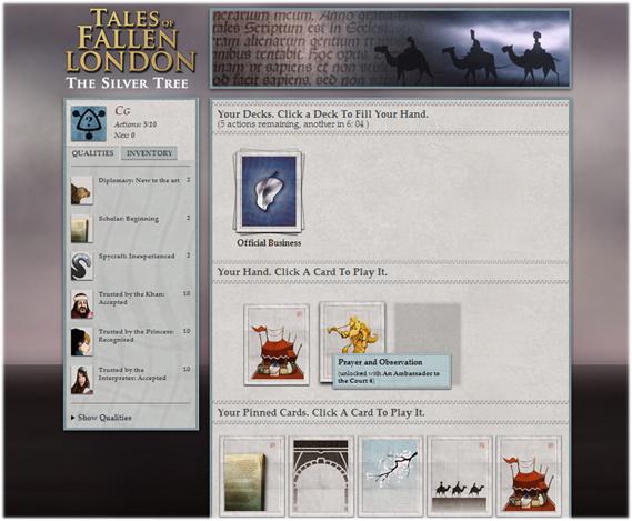 Tales of Fallen London: The Silver Tree