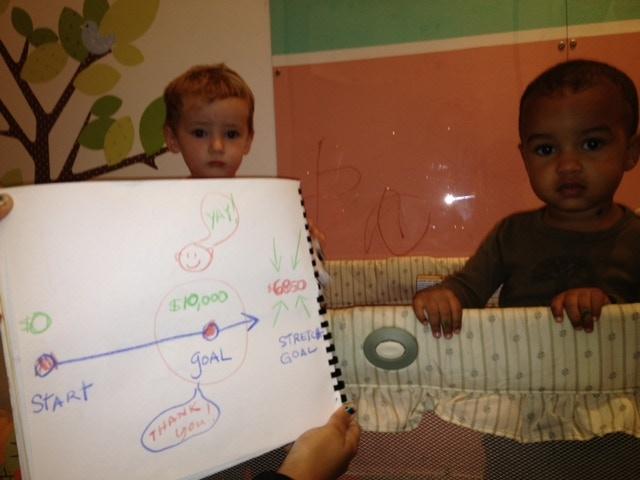 Future salesmen and best friends, Noah and Breccan