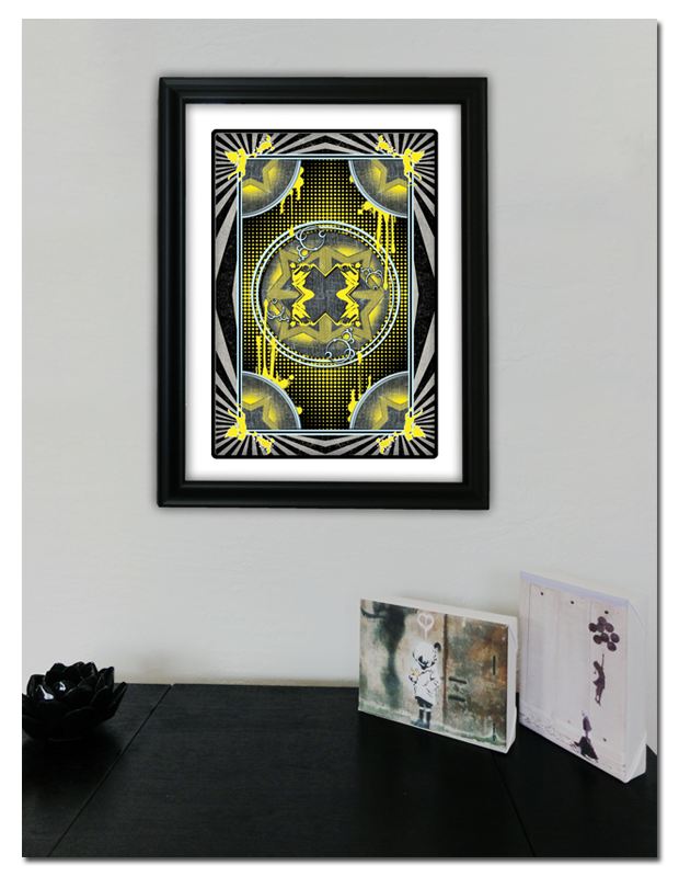 Urban Punk Playing Card Back Design Print (Frame Not Included)