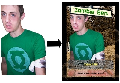 Sample Zombie 1 - you in costume, realistic photo